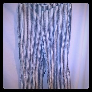 Abercrombie and Fitch Wide Crop Linen Pants
